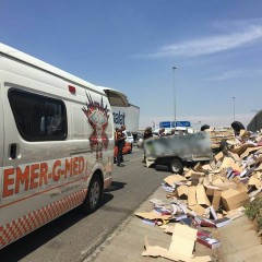 TRUCK ROLLED ON R21 EAST RAND